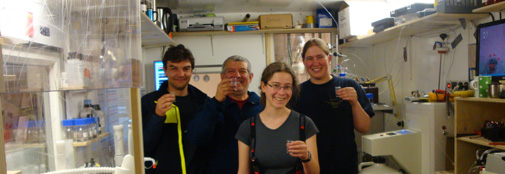 Celebrating successful analysis of the first 100 m of ice in the CFA lab