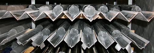 Brittle ice cores in the core buffer