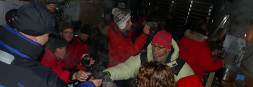 Celebrating the termination of the ice core processing